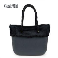 57.79$  Buy now - http://ali9h0.worldwells.pw/go.php?t=32511019442 - Classic Mini Obag Style complete AMbag with Rabbit Fur Plush Trim insert handles  Women's bags handbag  O bag