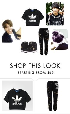 """""""only you"""" by pinocchiohyuk ❤ liked on Polyvore featuring adidas, Moschino and DC Shoes"""