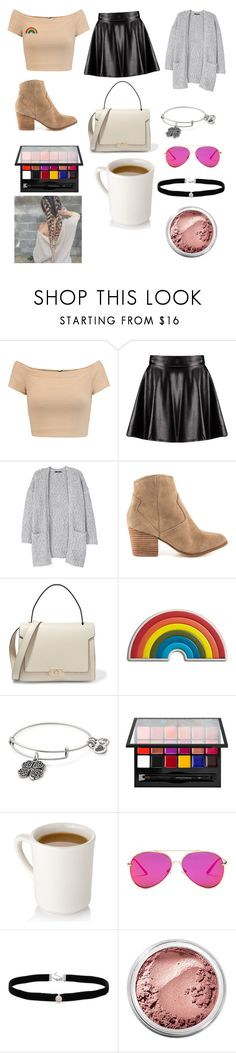 """""""💓"""" by alaxaaleys ❤ liked on Polyvore featuring Alice + Olivia, Boohoo, MANGO, ALDO, Anya Hindmarch, Alex and Ani, Anastasia Beverly Hills, AQS by Aquaswiss, Amanda Rose Collection and Bare Escentuals"""