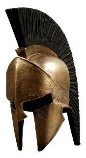 casco espartano  de la batalla de las termopilas