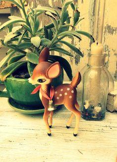 Vintage deer fawn kitsch retro figurine japan by studiopink