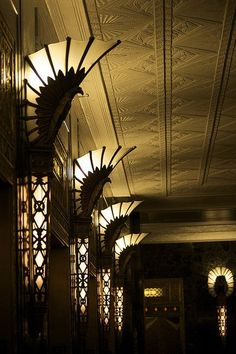 Art deco interior #Lighting #Light #InteriorDesign