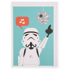 Stormtrooper disco Star Wars card