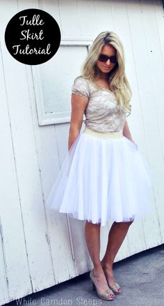 Tulle skirt tutorial, the lazy girl way. Did it and love it!