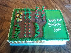 Delectable Cakes: Vegetable Garden Birthday Cake