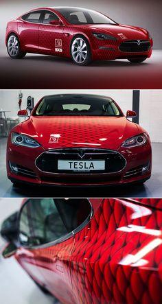 Tesla print wrap