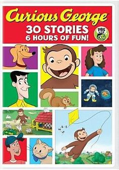 Curious George 30-Story Collection Frank Welker, Storybook Characters, Pbs Kids, Gift Finder, Curious George, Television Program, Cartoon Kids, New Movies, Problem Solving
