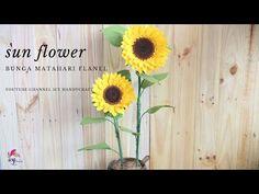 cara membuat bunga matahari dari kain flanel | DIY FELT SUNFLOWER | tutorial - YouTube Dyi Flowers, Big Paper Flowers, Crepe Paper Flowers Tutorial, Felt Flower Tutorial, Felt Flowers, Kids Market, Felt Crafts Patterns, Felt Headband, Flower Video