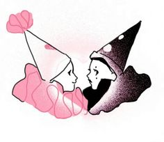 Clowns, Pretty Art, Cute Art, Desenho New School, Pierrot Clown, Character Art, Character Design, Cute Tattoos, Sweet Tattoos