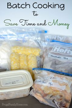 It's nice to save time and money. One of the ways I do this is by batch cooking. I can get the mess all done at one time and have my freezer stocked with yummy meal starters.
