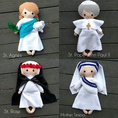 Saint Doll Catholic Saint, Catholic Toy, Catholic Gift https://www.etsy.com/shop/TheLittleRoseShop