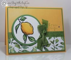 I used the Sale-A-Bration exclusive stamp set from Stampin' Up! called A Happy Thing to create my card to share today. My card design was inspired by The Paper Players #229. I started by stamping t...