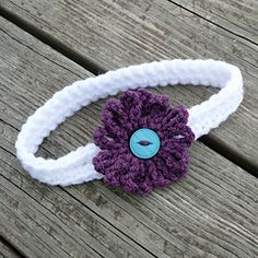 """Use up some scraps to make a cute little headband! They're cute for babies, kids & adults! The flower is about 3"""" wide."""