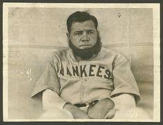 Babe Ruth when he was barnstorming with the house of david Tar Heels Football, House Of David, Yankees Baby, Negro League Baseball, Babe Ruth, Ruth 1, Unc Tarheels, Guy Names
