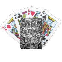 Mosaic Stones Glass Black Grey White Bicycle Playing Cards