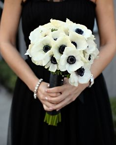bridesmaids in black | anemones | troy grover photography | via: inspired by this
