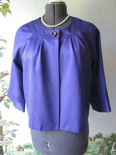 Jones New York Collection Women One Button Blazer Suit Jacket SZ 12 #JonesNewYork #Jacket