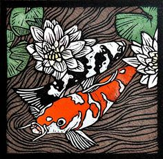 South African Art, Woodblock Print, Koi, Printmaking, Artworks, Fine Art Prints, Creative, Animals, Animales