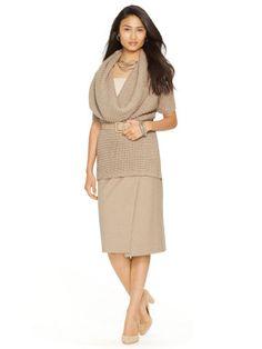 Wool-Cotton Wrap Skirt - Lauren Sale - RalphLauren.com