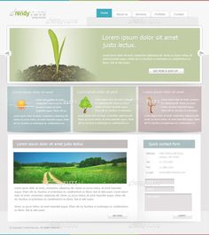 Soft Green Web Layout Tutorial in Photoshop