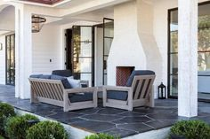 White Brick Outdoor Fireplace 22