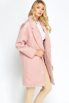 Pink Boyfriend Coat