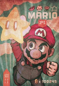 Super Mario Super Power by cheshirecatart