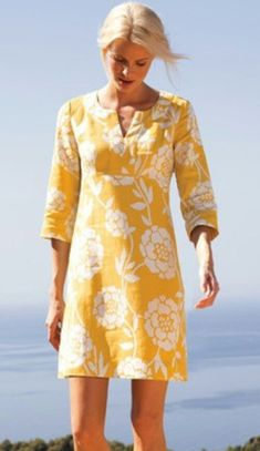 Yellow linen tunic