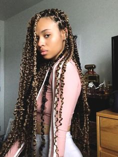 10 Inspo-Worthy Protective Summer Hairstyle Trends For Natural Hair Ecemella - Natural Hair Styles Black Girl Braids, Braids For Black Hair, Girls Braids, Natural Hair Braids, Box Braids Hairstyles, Cute Hairstyles, Marley Twist Hairstyles, Hairstyles Pictures, Casual Hairstyles