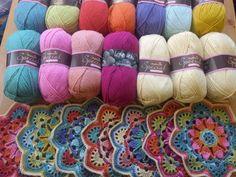 68 Super Ideas For Tree Of Life Crochet Afghan Patterns Crochet Afghans, Crochet Quilt, Crochet Blocks, Crochet Home, Crochet Motif, Crochet Yarn, Crochet Flowers, Crochet Stitches, Granny Square Häkelanleitung