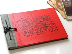 Vintage Soviet Photo Album with Red Covers by LittleRetronome, $30.00