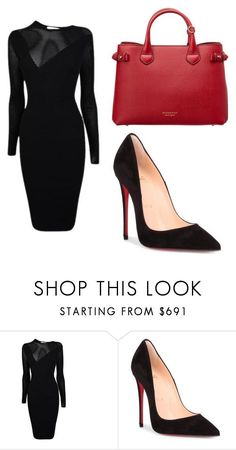 Untitled #41 by sharon-s-molnar on Polyvore featuring Versace, Christian Louboutin and Burberry #$69 Christian Louboutin