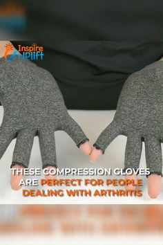 Made of high quality cotton spandex, these Arthritis Compression Fingerless Gloves ensure a comfortable fit and increased mobility all day long. The fingerless design facilitates holding onto things w Health And Beauty, Health And Wellness, Health Tips, Arthritis Gloves, Clothing Hacks, Crafts To Sell, Diy Crafts, Fabric Crafts, Health Remedies