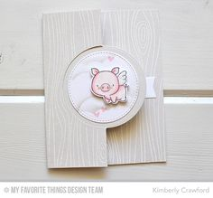 Hog Heaven, Hog Heaven Die-namics, Flop Card - Circle Die-namics, Whimsical Woodgrain Die-namics, Stitched Cloud Edges Die-namics, Blueprints 29 Die-namics - Kimberly Crawford #mftstamps