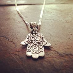 One of our hand of Fatima necklaces :) via - www.HippiesHope.com