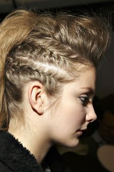 Love this! Almost like a faux hawk
