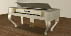 White Square Grand Piano