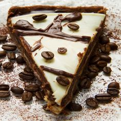 A Delicious recipe for creamy coffee pie. Serve garnished with coffee beans.. Coffee Pie Recipe from Grandmothers Kitchen.
