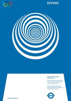 Olympics Movement Poster-Diving | Alan Clarke // #graphicDesign #illustration #advertising