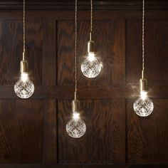 Crystal Bulbs | Lee Broom - Handblown lead crystal, LEDs