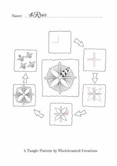 Tanglemuster: 4Rosie | Freude mit Zentangle