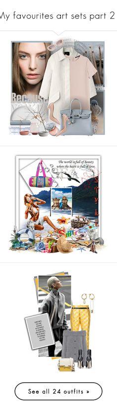 """My favourites art sets part 21"" by kuchidesign ❤ liked on Polyvore featuring Isabel Marant, MANGO, Dolce&Gabbana, Hermès, Georg Jensen, Bobbi Brown Cosmetics, Linda Farrow, Bastien, Poesia and ASOS"