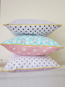 """by Annabel Kern ** coussin """"le petit carré"""" Love these"""