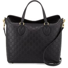 Gucci Guccissima Leather Top-Handle Bag (2,545 NZD) ❤ liked on Polyvore featuring bags, handbags, black, top handle handbags, zipper tote, gucci handbags, handbags totes and leather zip tote