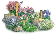 Pflanzplan für ein insektenfreundliches Beet