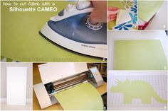 How to cut fabric with the cameo