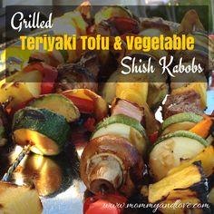 Grilled Teriyaki Tofu and Vegetable Kabobs | www.mommyandlove.com