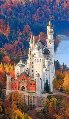 Neuschwanstein Castle in Allgau, Bavaria, Germany - Explore the World with Travel Nerd Nici, one Country at a Time. http://travelnerdnici.com/