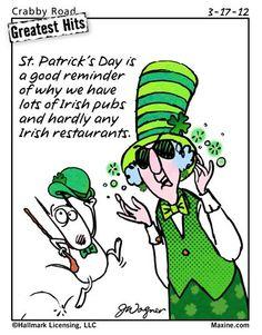Irish pubs not restaurants   Maxine for 2012-03-17