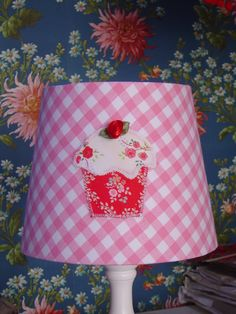 Handmade lampshade with cupcake applique by atelier iOPPi